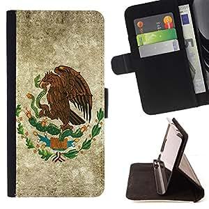 KingStore / Leather Etui en cuir / Samsung Galaxy S6 / EAGLE HAWK CREST