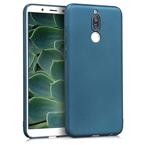 kwmobile Funda para Huawei Mate 10 Lite - Carcasa [rígida] y [Antideslizante] para móvil - Cover en [petróleo Metalizado]
