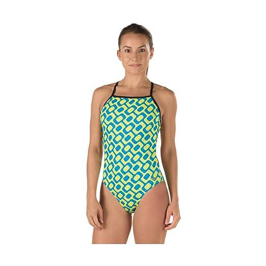 1b0f0997b Amazon.com: Speedo Women's Printed One Back Rio Americana One Piece Swimsuit:  Clothing