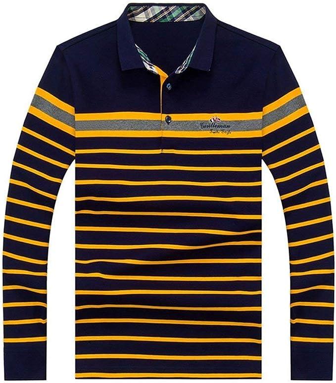 Hzf Hombres, Camiseta Larga para Hombres, Hombres, Polo, Rayas ...