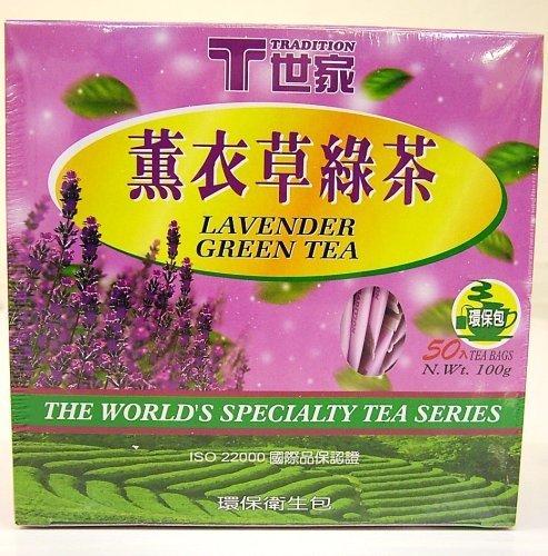 - Lavender Green Tea 50 Tea Bags