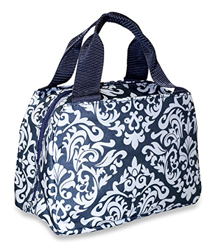 Ever Moda Damask Insulated Lunch Bag