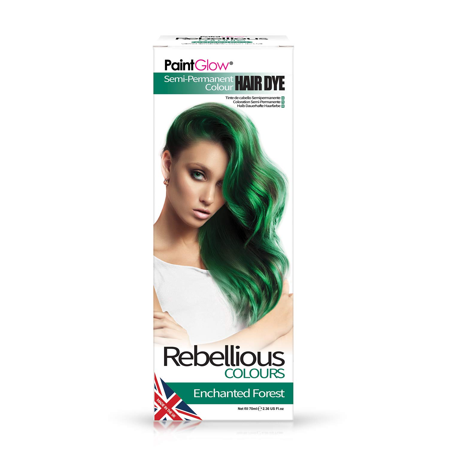 Paint Glow Rebellious Colours Semi-Permanent Conditioning Hair Dye 70ml-Purple Fury