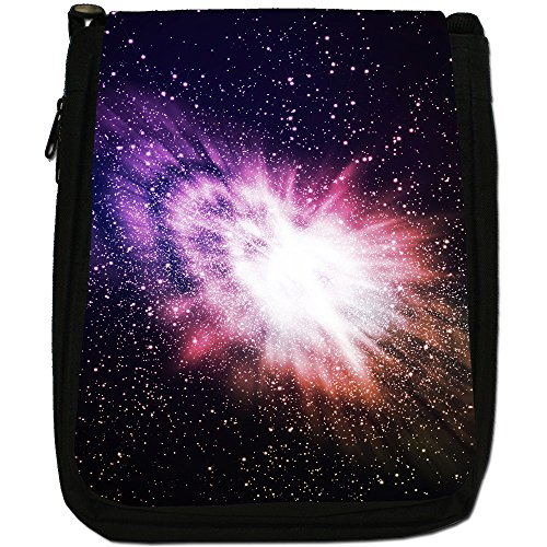 Space Exploration Size Canvas Black Medium Bag Shoulder Explosion Cosmic x1qTSzxp