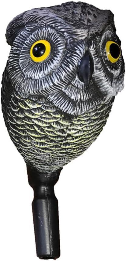 Owl Scarecrow tête rotative antiparasitaire oiseaux Répulsif Jardin Crow effrayer Decoy