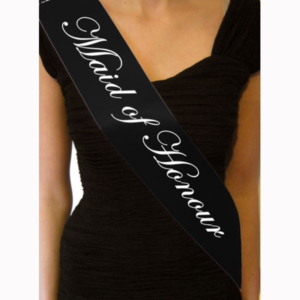 GOOTRADES 6 Pcs-1 Set Black Hen Night Sash Party Sashes Do Accessories Bride To Be Out Girls Deluxe Bling