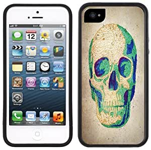 Cool Skull Handmade iPhone 5 Black Bumper Plastic Case