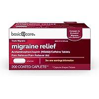 Deals on 200-Count Amazon Basic Care Migraine Formula Caplets