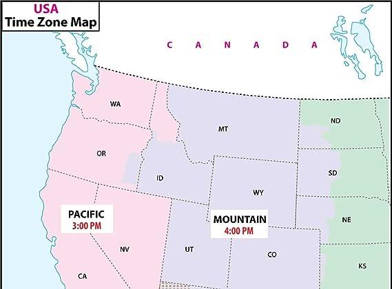Amazon.com : US Time Zone Map - Laminated (36\