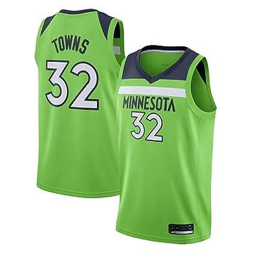 Hombre Mujer Ropa de Baloncesto NBA Timberwolves 32# Towns Jersey ...