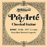 D\'Addario J4406C Pro-Arte Composite Classical Guitar Single String, Extra-Hard Tension, Sixth String