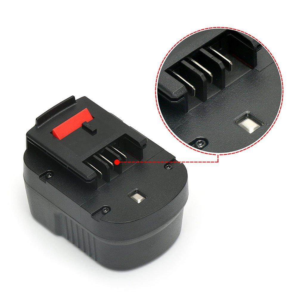 PowerGiant 14.4V 2.0Ah HPB14 Battery for Black & Decker Firestorm 14.4 Volt FSB14 FS140BX A14 A1714 BD1444L 499936-34 499936-35 Power Pack by POWERGIANT (Image #2)