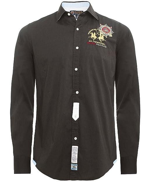 La Martina Hombres Camisa Slim Fit Rivero turba M: Amazon.es: Ropa y accesorios