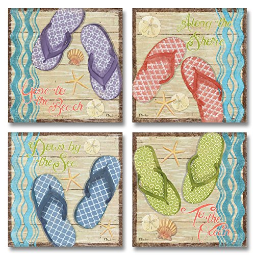 Retro Flip Flop Set Decor