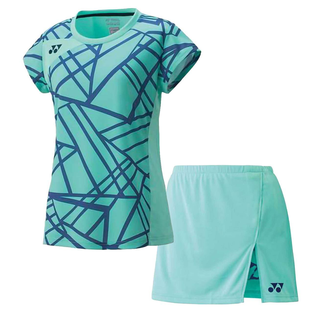 ヨネックス(YONEX) ウィメンズ ゲームシャツ&スカート(インナースパッツ付)上下セット(ミントブルー/ミントブルー) 20416-526-26043-526 L ミントブルー×ミントブルー B07KF2JGPX, LINBAK 0a7352a3