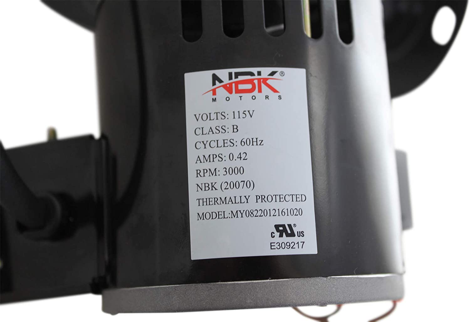 AC-16 NBK 20070 Blower Motor 2 Speed Room Convection