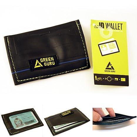 Green Guru ID cartera soporte reciclado para bicicleta tubo de la tarjeta de Crédito caso nuevo