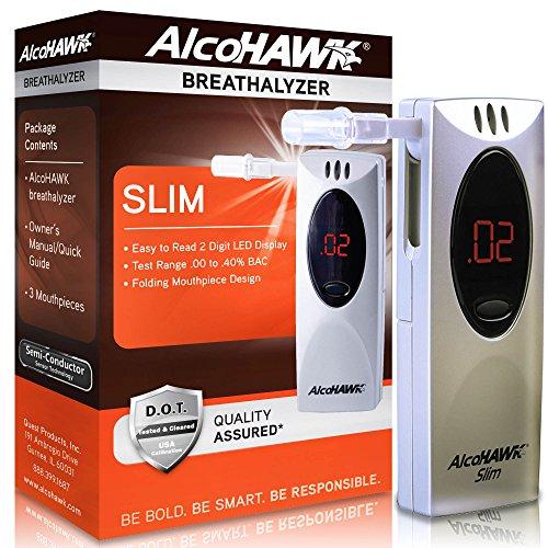 AlcoHAWK Slim Digital Breathalyzer Alcohol (Alcohawk Breathalyzer)