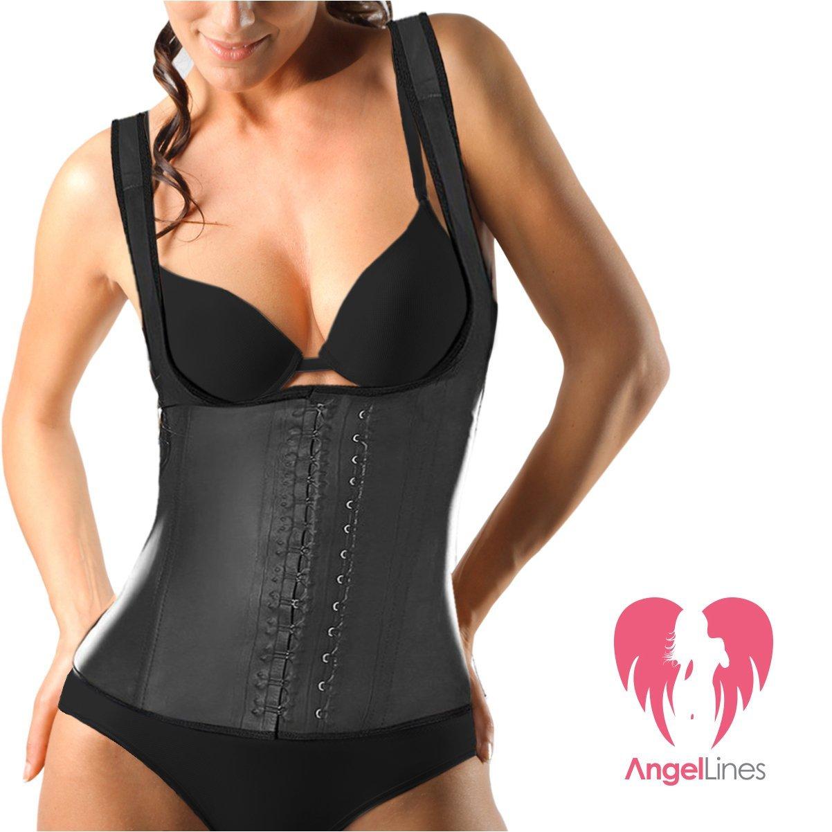 d547ca89e16 Amazon.com  Angel Lines Waist Trainer Corset - Shape Compression Vest for Slim  Body - Black-M  Beauty