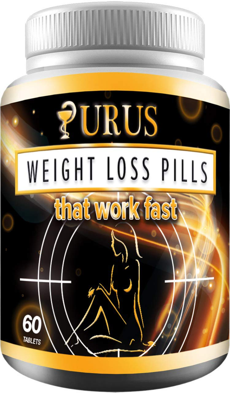 Weight Loss Pills - Diet Pills, Fat Burner, Carb Block & Appetite Suppressant - Dietary - URUS Work Fast for Women and Men by URUS