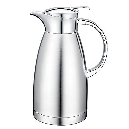 64 oz 18/10 acero inoxidable cafetera jarra termo jarra de doble ...