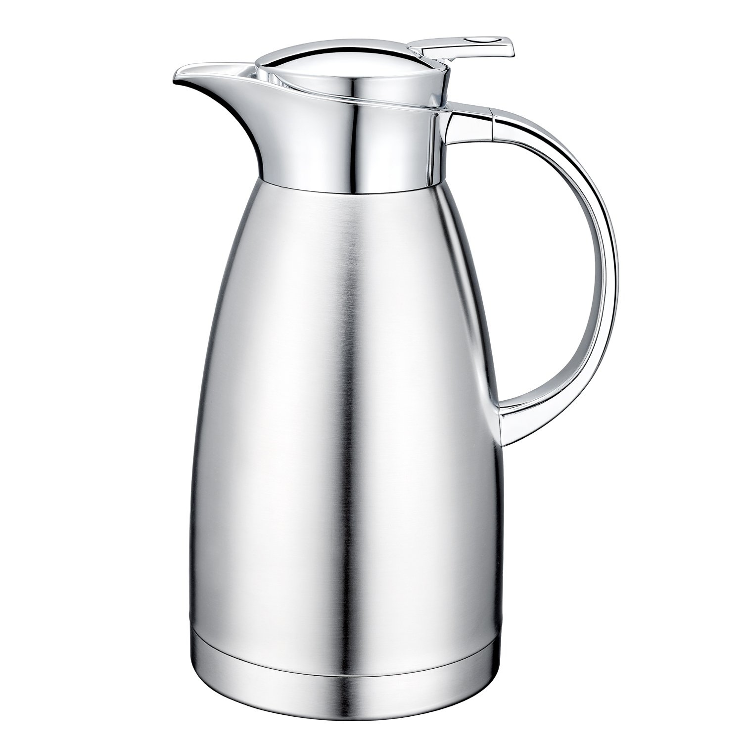 64 Oz 18/10 Stainless Steel Coffee Carafe Thermos Carafe Double Walled with press button Vacuum Carafe Insulated by Gabbay by Gabbay
