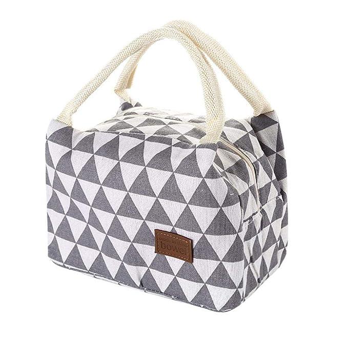 Gaddrt - Fiambrera térmica aislante, bolsa térmica para el almuerzo, para mujeres, niños y hombres B: Amazon.es: Hogar