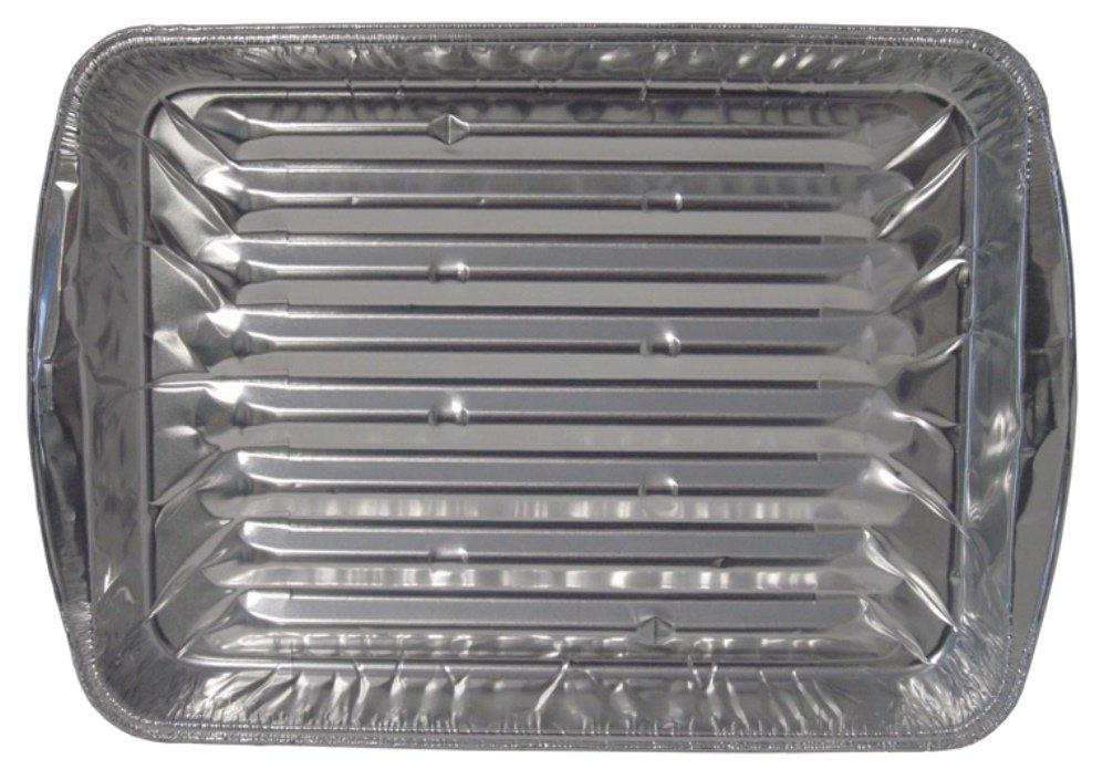 Durable Packaging Disposable Aluminum Broiler Pan, Large (Pack of 500)