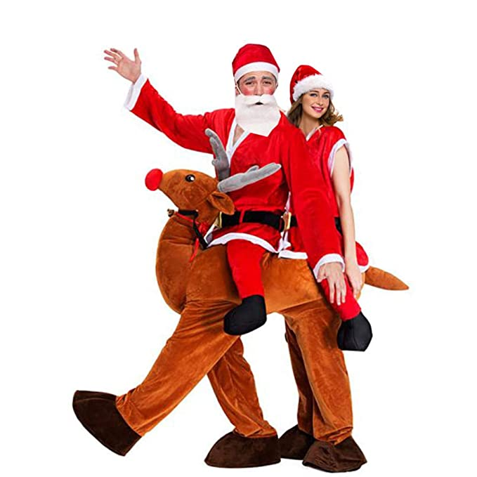 hengGuKeJiYo Navidad Sr. Papá Noel Paseo en Reno Mascota Disfraz ...