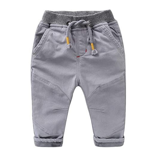 Fengbingl-cl Los bebés de los Pantalones Ocasionales Cintura ...