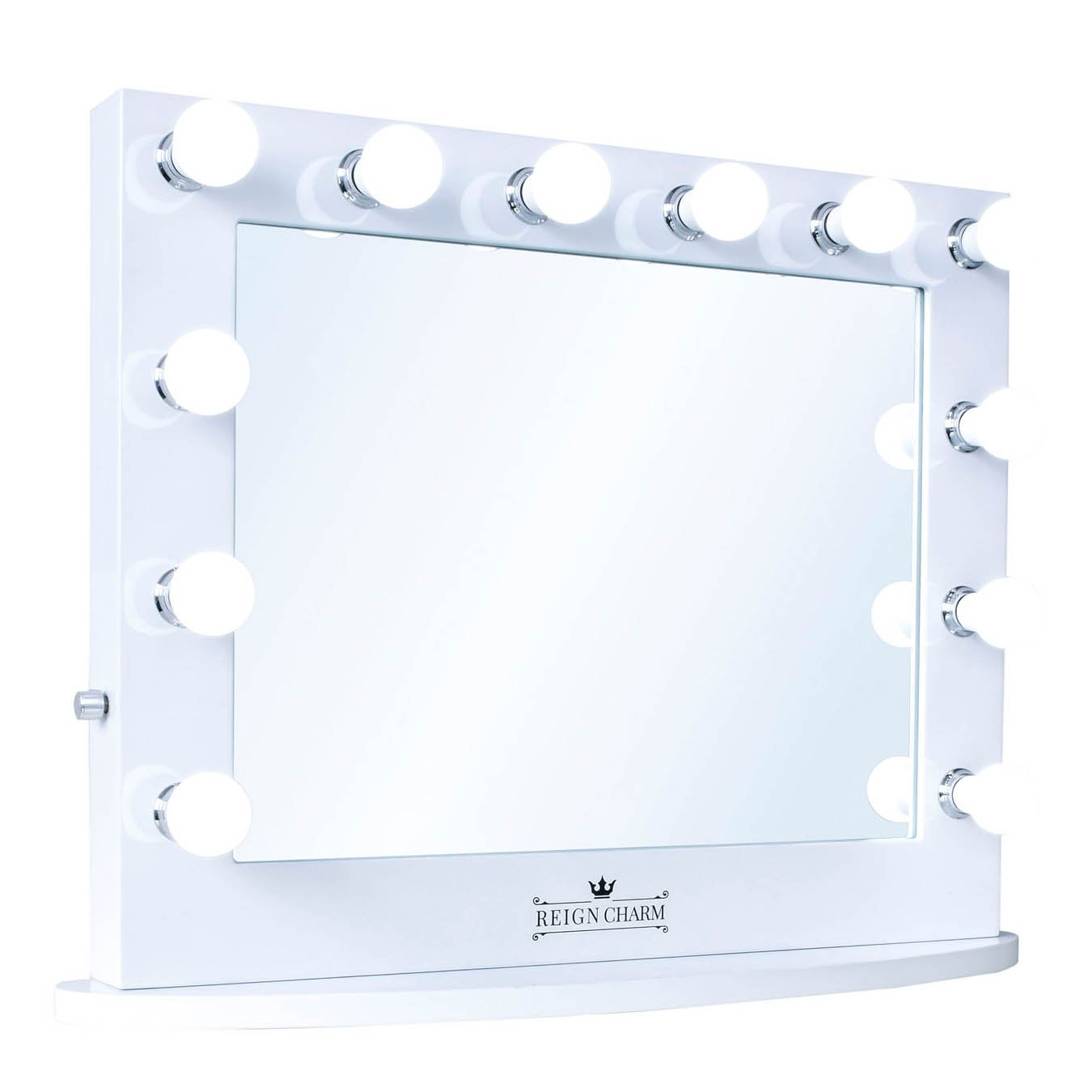 ReignCharm Hollywood Vanity Mirror, LED Light Bulbs, USB Ports and Outlets, 32 L X 27 H, White, 12 Piece