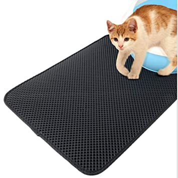 LIXING Pet Alfombra De Arena para Gatos, Malla Fácil De Limpiar Durable No Tóxico Impermeable Pad 3 Tamaño Opcional,L: Amazon.es: Hogar