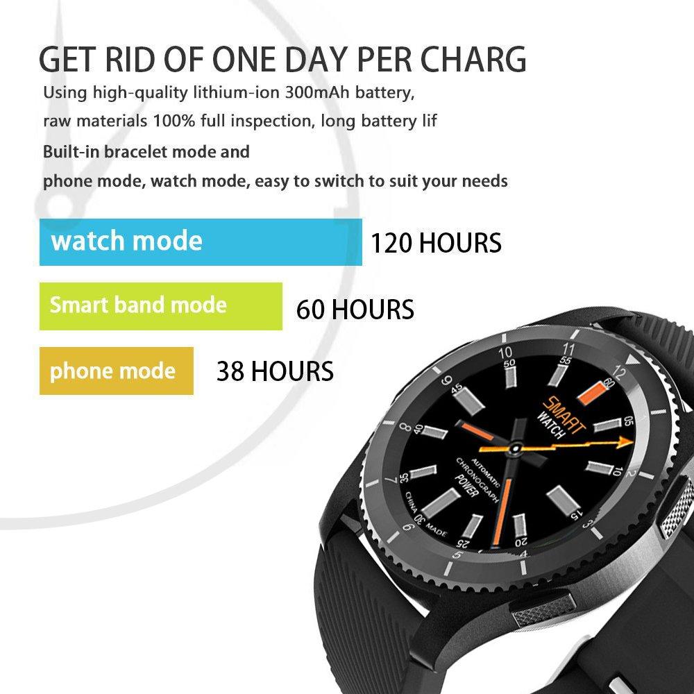 Reloj Deportivo Inteligente, STOGA Fitness Tracker Sport Tracker con Soporte Bluetooth 4.0 Tarjeta SIM Seguimiento del sueño Podómetro Recordatorio de ...