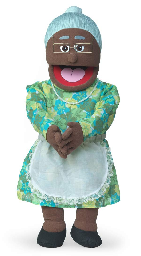 Black Grandmother Professional Performance Puppet with Removable Legs 30 Granny Full or Half Body