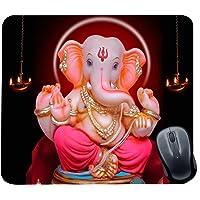 Family Shoping Diwali Gifts Item Office Printed Ganpati Bappa Mousepad for Computer, PC, Laptop, Pink