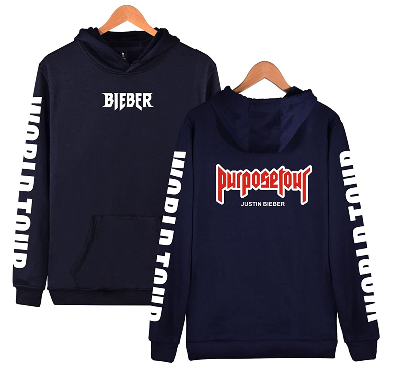 SERAPHY Unisexe Pullover Justin Bieber Sweat /à Capuche Tour Bieber World Tour pour Femme//Homme