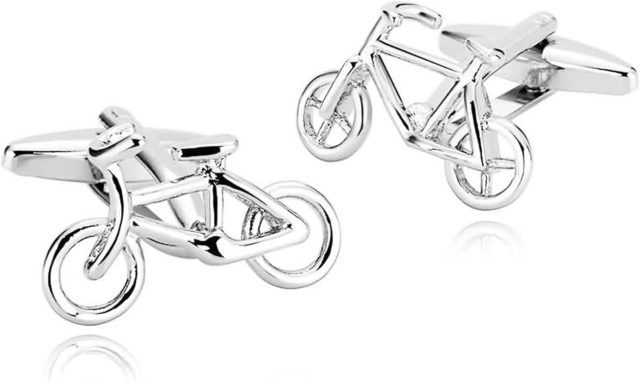 AmDxD Joyería Acero Inoxidable Gemelos para Hombres Bicicleta De ...