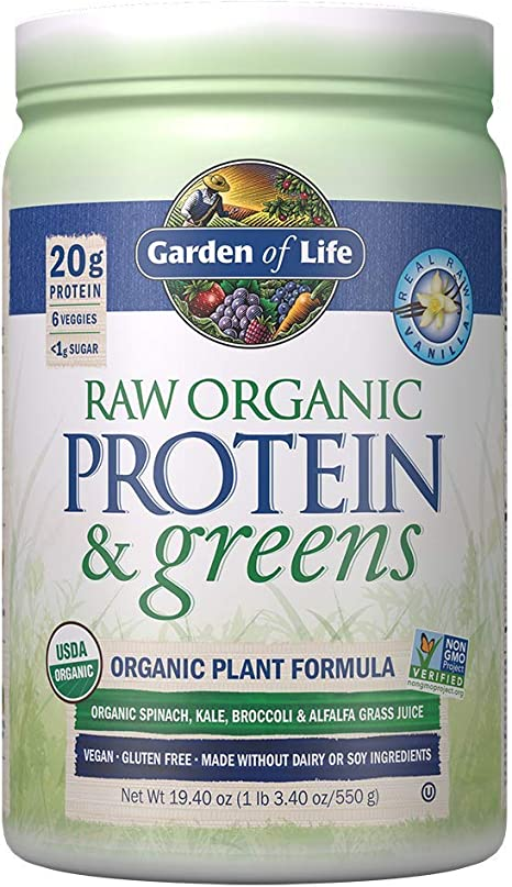 Amazon Com Garden Of Life Raw Protein Greens Vanilla Vegan Protein Powder For Women And Men Juiced Greens And 20g Raw Organic Plant Protein Plus Probiotics Enzymes Gluten Free Low Carb Shake