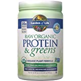 Garden of Life Raw Protein & Greens Vanilla, Vegan Protein Powder for Women and Men, Juiced Greens and 20g Raw Organic Plant