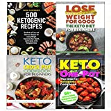 Keto diet for beginners, 500 ketogenic recipes, crock pot cookbook and one pot ketogenic 4 books collection set