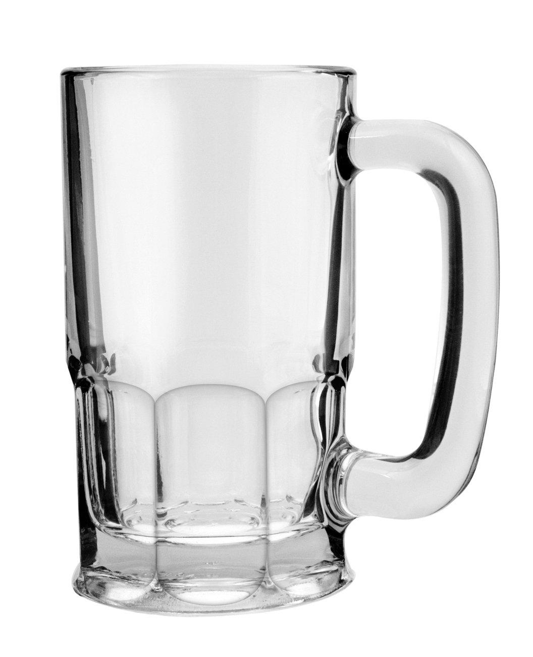 Anchor Hocking Wagon Glass Beer Mugs, 20 oz (set of 6)