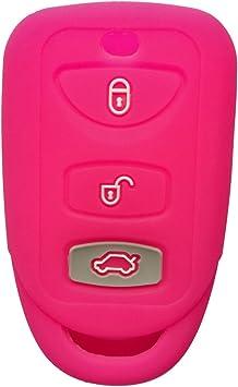 Car Keys Protective Sleeve Black for Hyundai Kia 3 Button car Key Cover