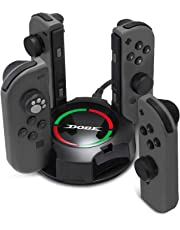 Charging Dock KINGTOP 4 in 1 Ladegerät Nintendo Switch Controller Joy-Con Lade Dock mit LED-Anzeige