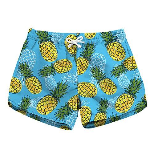 Ds Jogger - Honeystore Women's Summer Quick Dry Print Boardshorts Swim Trunks Beach Shorts Pineapple Style D S