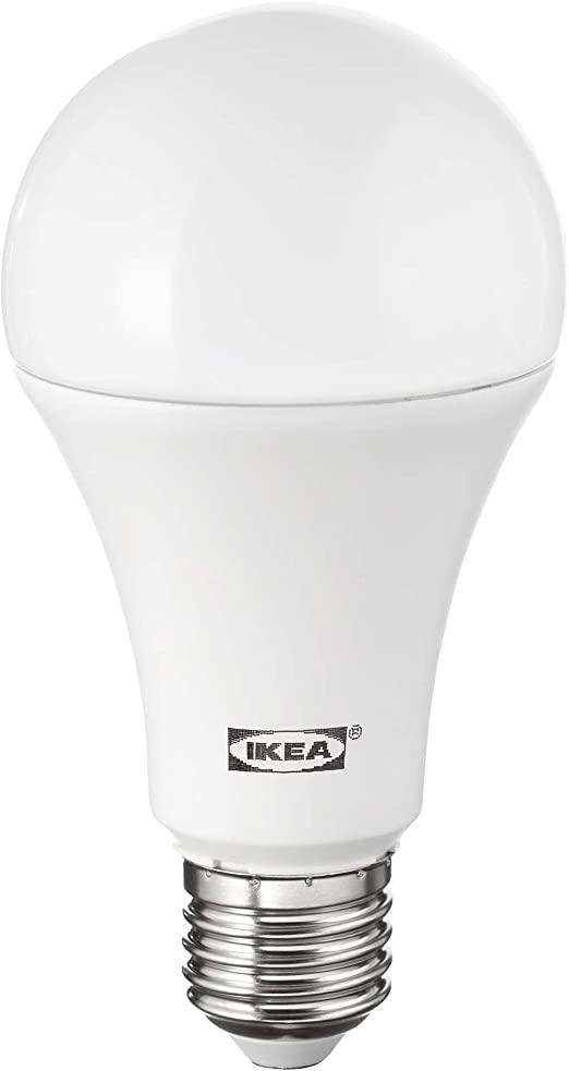 Ikea Ledare E27 Bombilla Led De Globo 1600 Lumenes Intensidad Regulable Amazon Es Iluminacion