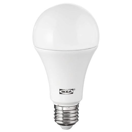 IKEA LEDARE E27 - Bombilla LED de globo (1600 lúmenes, intensidad regulable)