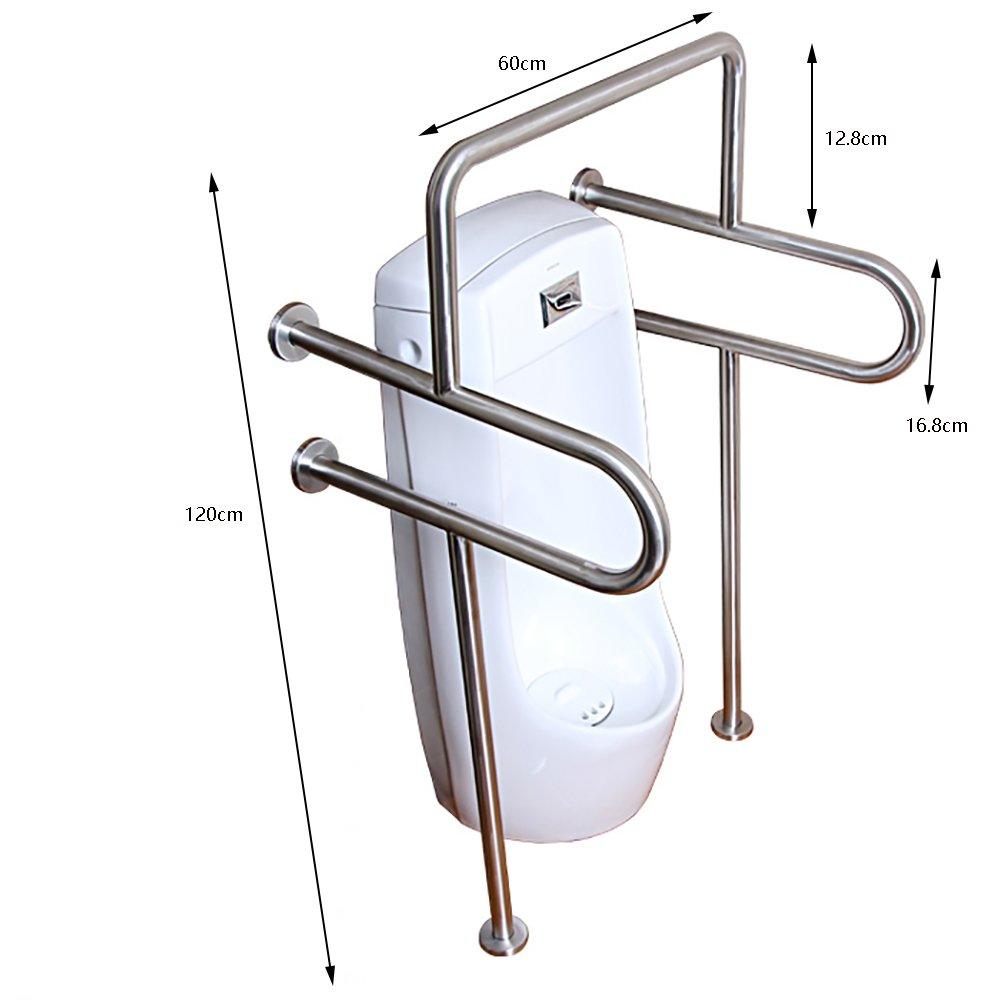 Main-courante de toilette pour la salle de bain ancienne Main courante Acier inoxydable avec pied 120cm