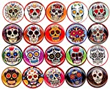 Sugar Skulls x 20 NEW 1'' inch (25mm) buttons pins badges dia de los muertes day of the dead …