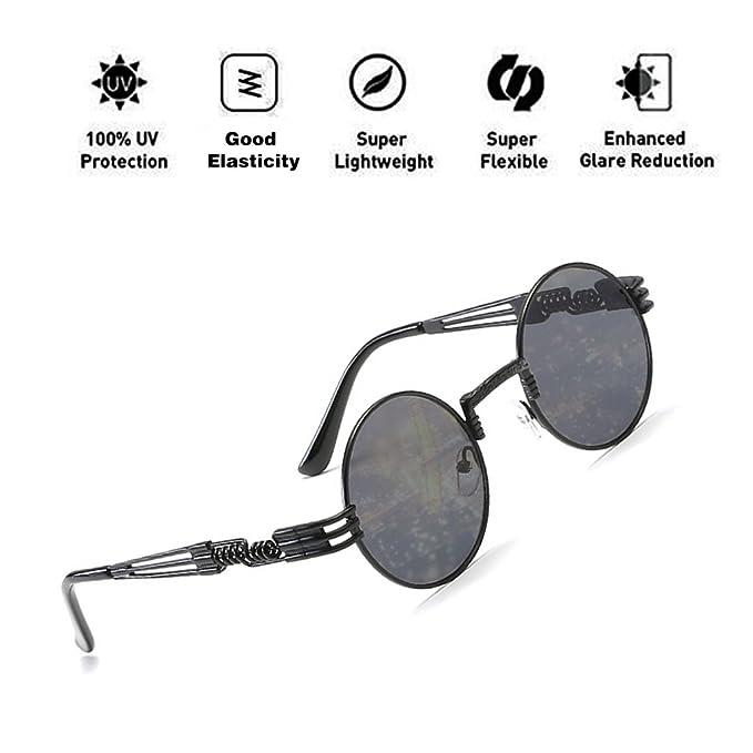 ATNKE John Lennon Gafas Quavo Steampunk Gafas de Sol ...