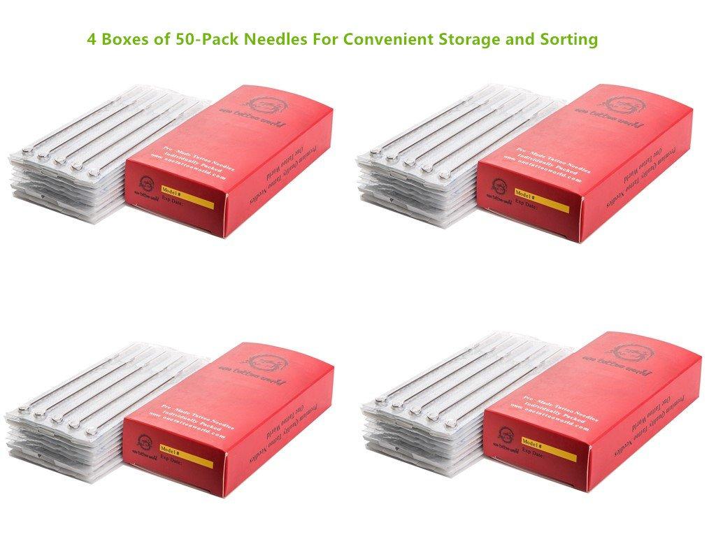 200 needles (100Pc Liner + 100 Shader) Tattoo Needles 25Pc-3RL, 50Pc - 5RL, 25Pc-7RL, 25Pc-5RS, 25Pc-7RS, 25Pc - 9RS, 10Pc-5M1, 15Pc- 7M1 Generic OTW-ASN200